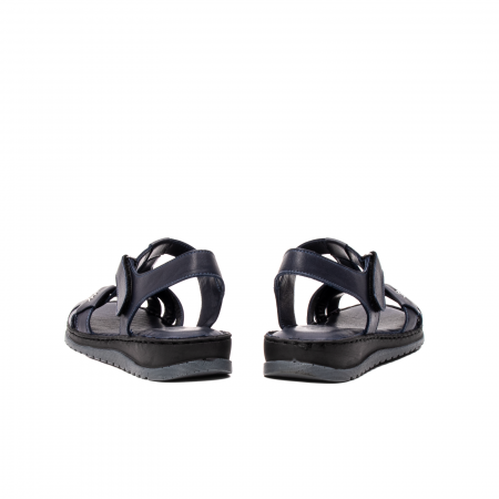 Sandale dama casual, piele naturala, Y2135 BL6