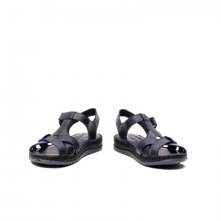 Sandale dama casual, piele naturala, Y2135 BL4