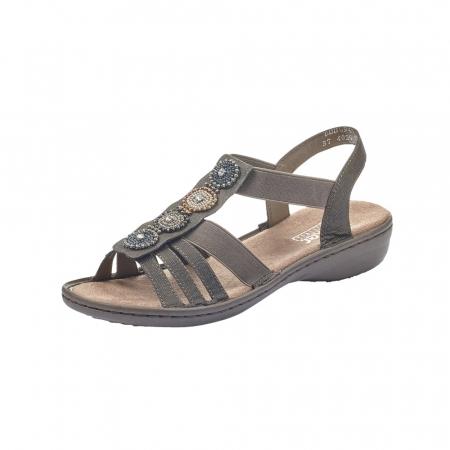 Sandale dama elegante, piele ecologica, 608G9-0