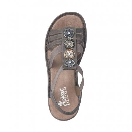 Sandale dama elegante, piele ecologica, 608G9-1