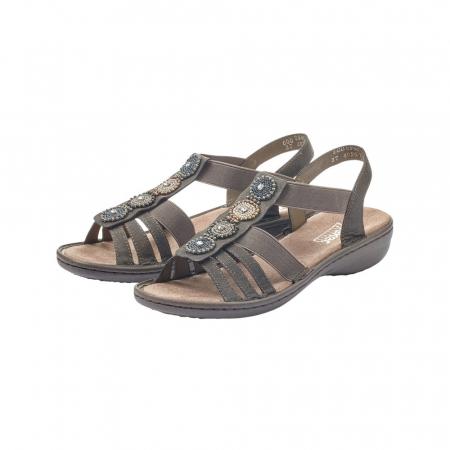 Sandale dama elegante, piele ecologica, 608G9-3