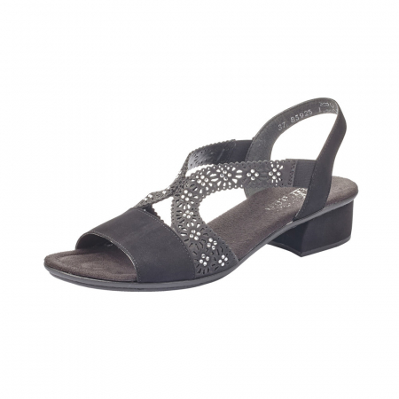 Sandale dama elegante, piele ecologica, RIK V6216-00 N0