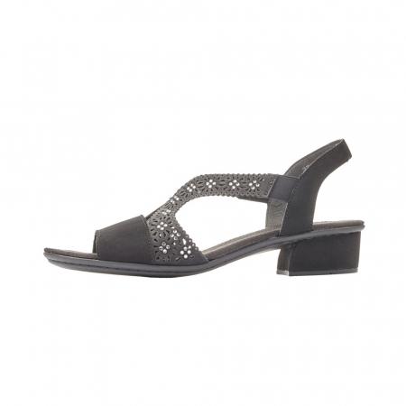 Sandale dama elegante, piele ecologica, RIK V6216-00 N5