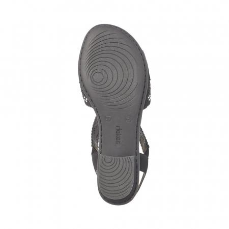 Sandale dama elegante, piele ecologica, RIK V6216-00 N2
