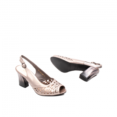 Sandale dama elegante, piele naturala, EP 4F811 SIL3