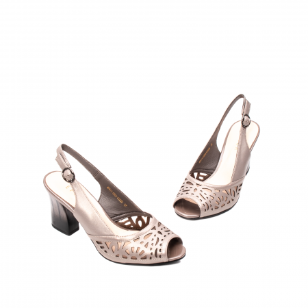 Sandale dama elegante, piele naturala, EP 4F811 SIL1