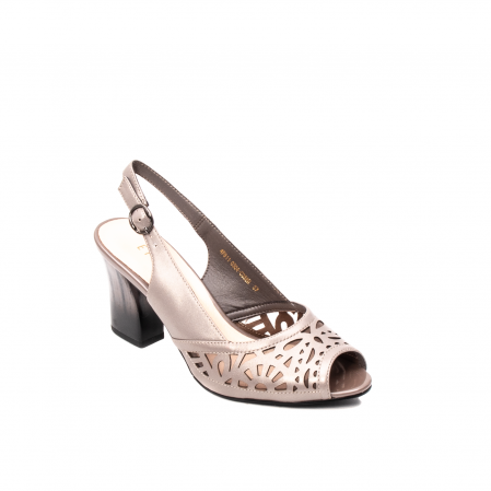 Sandale dama elegante, piele naturala, EP 4F811 SIL0