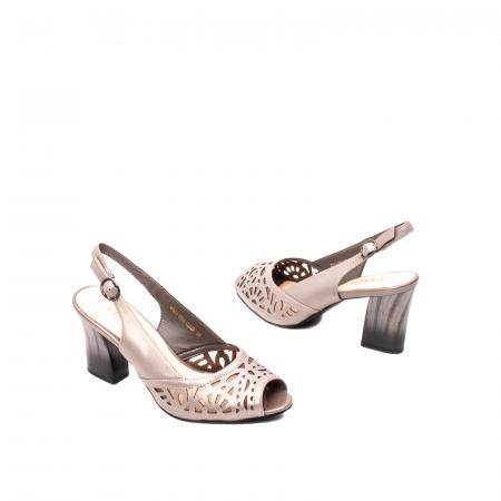 Sandale dama elegante, piele naturala, EP 4F811 SIL2