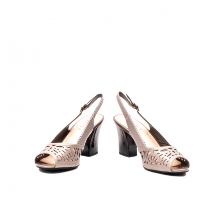 Sandale dama elegante, piele naturala, EP 4F811 SIL4