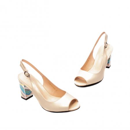 Sandale dama elegante, piele naturala, EP C679H1