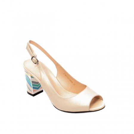 Sandale dama elegante, piele naturala, EP C679H0