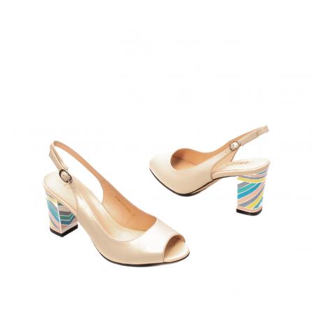 Sandale dama elegante, piele naturala, EP C679H2