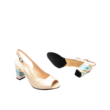 Sandale dama elegante, piele naturala, EP C679H3