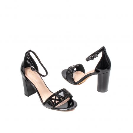 Sandale dama elegante, piele naturala lacuita, EP JICL0302