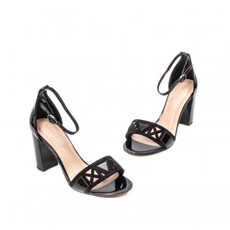 Sandale dama elegante, piele naturala lacuita, EP JICL0301