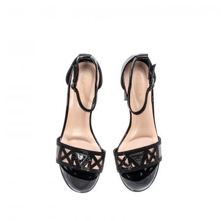 Sandale dama elegante, piele naturala lacuita, EP JICL0305