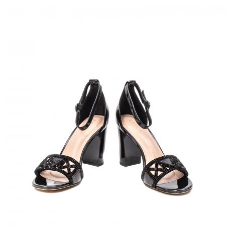 Sandale dama elegante, piele naturala lacuita, EP JICL0304