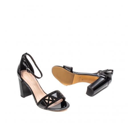 Sandale dama elegante, piele naturala lacuita, EP JICL0303