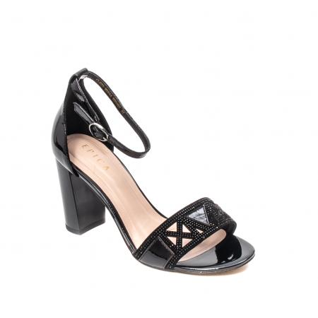Sandale dama elegante, piele naturala lacuita, EP JICL0300