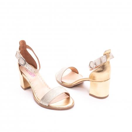 Sandale dama LFX  128 auriu box sidef3