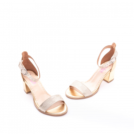Sandale dama LFX  128 auriu box sidef1