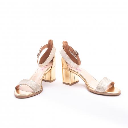 Sandale dama LFX  128 auriu box sidef4