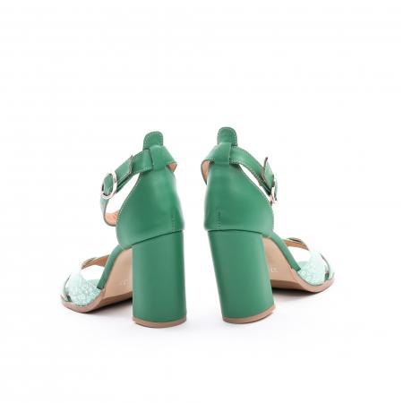 Sandale dama elegante piele naturala, Leofex 148, verde6