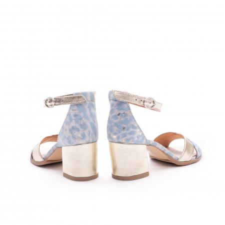 Sandale dama LFX 228 blue cu auriu6
