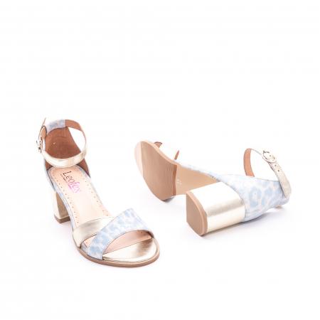 Sandale dama LFX 228 blue cu auriu3