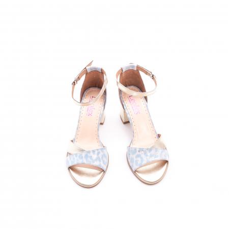 Sandale dama LFX 228 blue cu auriu5