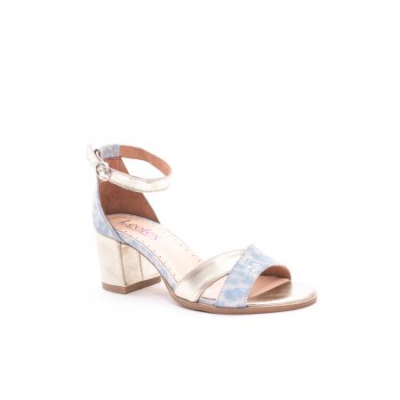 Sandale dama LFX 228 blue cu auriu
