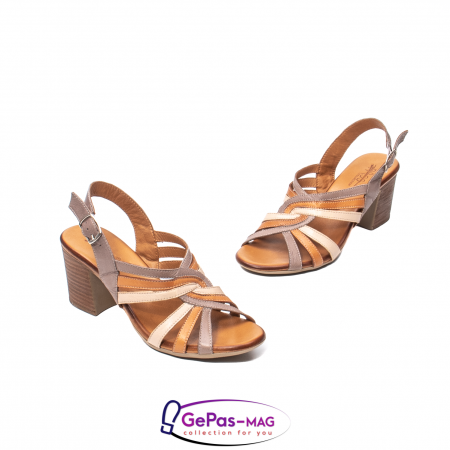 Sandale dama, piele naturala, 09030 H61