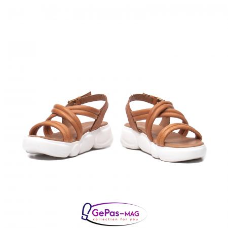 Sandale dama, piele naturala, L3MS-1083 coniac [4]