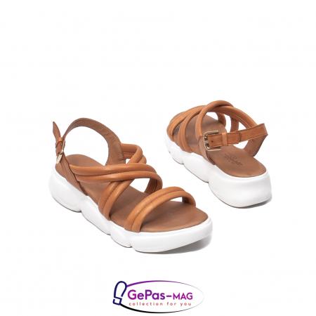 Sandale dama, piele naturala, L3MS-1083 coniac [2]
