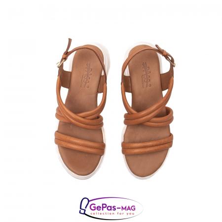 Sandale dama, piele naturala, L3MS-1083 coniac [5]