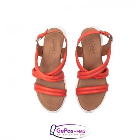 Sandale dama, piele naturala, L3MS-1083 Corai [5]