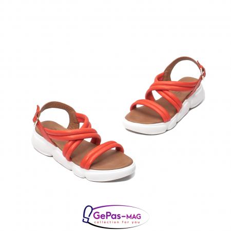 Sandale dama, piele naturala, L3MS-1083 Corai [1]