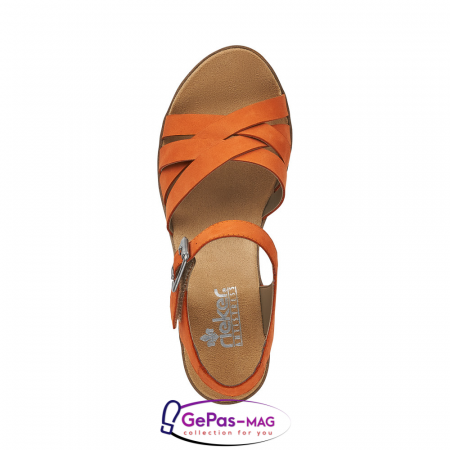 Sandale dama, piele naturala nubuc, V3863-381