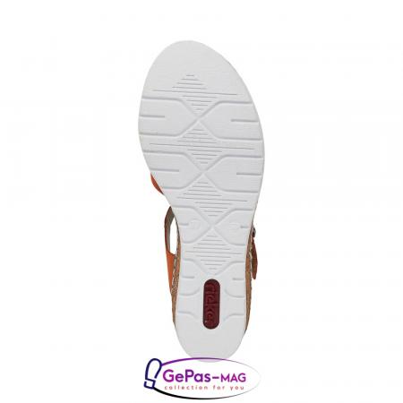Sandale dama, piele naturala nubuc, V3863-382
