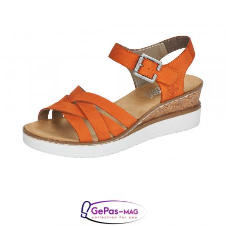 Sandale dama, piele naturala nubuc, V3863-380