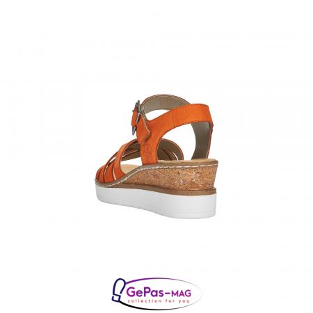 Sandale dama, piele naturala nubuc, V3863-384