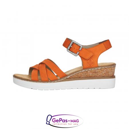 Sandale dama, piele naturala nubuc, V3863-383
