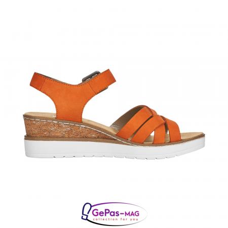 Sandale dama, piele naturala nubuc, V3863-385