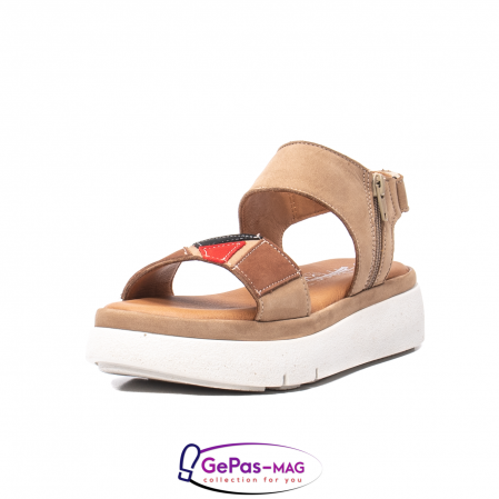 Sandale dama, piele naturala, O73046 bej0