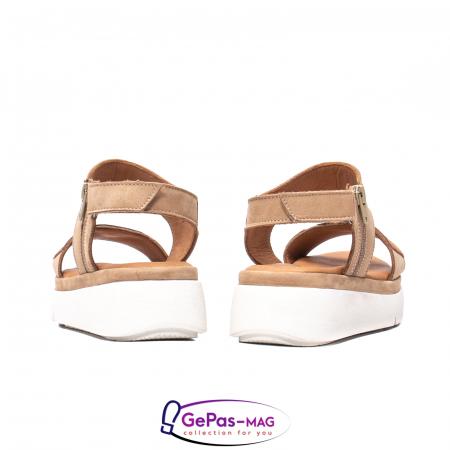 Sandale dama, piele naturala, O73046 bej6