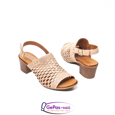 Sandale dama, piele naturala, O9030 03-N bej2