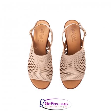 Sandale dama, piele naturala, O9030 03-N bej5