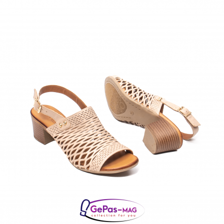 Sandale dama, piele naturala, O9030 03-N bej3
