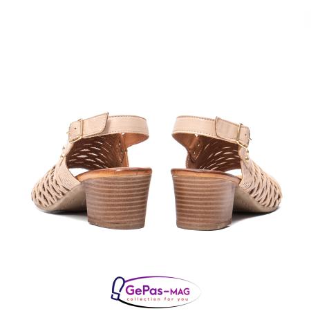 Sandale dama, piele naturala, O9030 03-N bej6