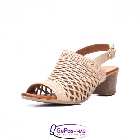 Sandale dama, piele naturala, O9030 03-N bej0